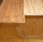 耐久力の高い宮城県産おび杉を使用した壁板